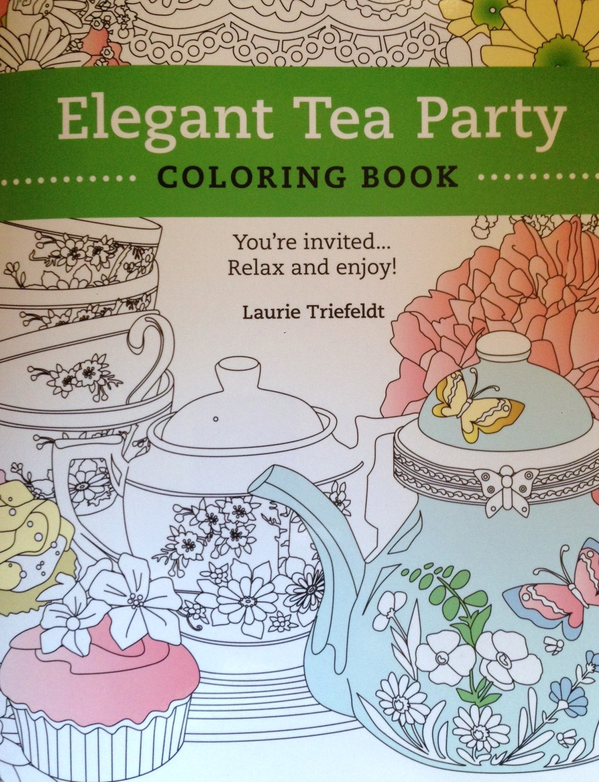 The Elegant Tea Party Coloring Book - signed by illustrator Laurie ...