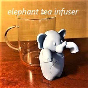 Zoopy Elephant infuser with drip bowl belly!